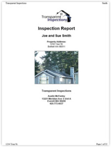Transparent Inspections Sample Report